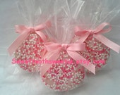 Pink Chocolate Covered Oreos Cookies Pink Baby Shower Favors Pink Wedding Favors Baptism Favors Christening Favors Sweet 16 Cookies Treats
