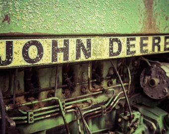 John Deere, Green Tractor Art, Rustic Farmhouse Wall Decor, Farmhouse Artwork, Country Wall Art, Barn Art, Art Prints Vintage, Digital Print