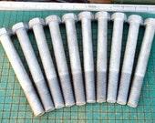 Big Hex Bolts, 10 count, heavy duty, destash, industrial, steel sculpture, paperweights, coat hooks,