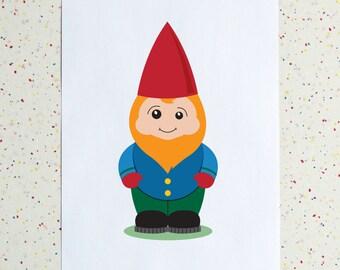Gnome Man Downloadable Print