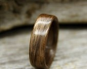 SIZE 10.75 - Classic Walnut Bentwood Ring - Handcrafted Wooden Ring