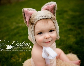 Faux Fur Kitty Cat Hat Photography Props, Props for Babies, Winter Hat, Cat Fur Hat Props, Animal Hat, Faux Fur, Sitters, Toddler, Kids Hats