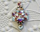 Principessa Bindi in Rainbow Crystal AB Swarovski and Antiqued Silver