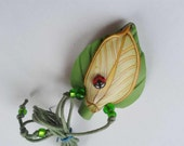 Signal Whistle - Green Leaf and Ladyibug Whistle