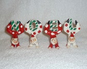 Vintage Christmas NOEL Clown Figurines Holt Howard RARE Hand Painted JAPAN 1950s Circus Holiday Napco