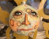 Moon face ornament Folk Art