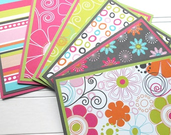 Blank Notecard Set - 6 Different Cards with Matching Embellished Envelopes - Party Girl