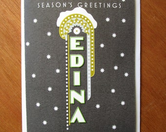 Edina Marquee Holiday card