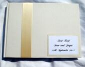 Guest book Wedding, Birthday  Write-In  9x6 Landscape Handmade Custom Materials Free Customized Monogram Card