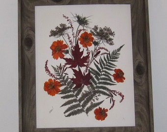 Rustic autumn floral wall decor