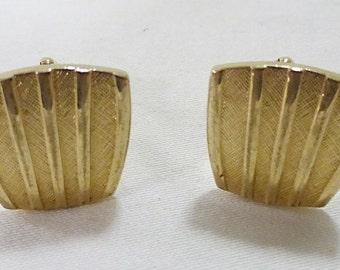 Cufflinks vintage art deco gold color