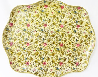 Vintage registered celebrate japan floral tray platter home decor