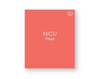 NICU Stay - Additional Baby Book Page