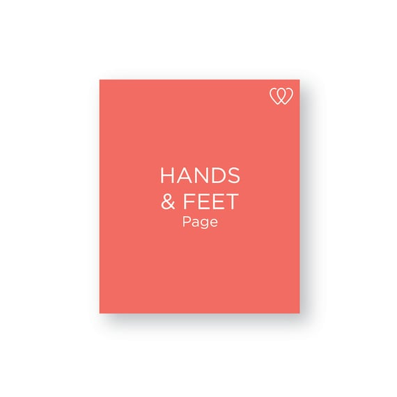 Hands and Feet Page - Additional Baby Book Page