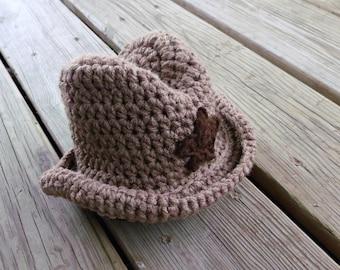 Baby Cowboy Hat - Crochet Baby Hat - Cowboy Baby Hat - Crochet Cowboy Hat - Baby Boy Hat - Cowboy Hat - Baby Photo Prop