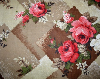 Floral Barkcloth with Roses 5 yards