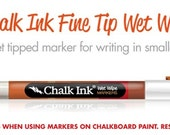 Chalk Ink Chalk Marker 1.0 Fine Tip, Chalk Pen, Chalkboard Marker White