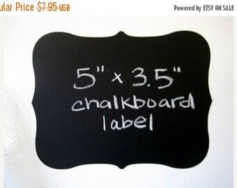 Get Organized SALE- 6 Chalk Labels® Large Fancy Style Chalkboard Labels, Chalkboard Stickers- 5 inches