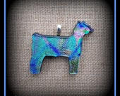 Multi Colored Dichoic Glass Show Goat