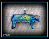 Multi Colored Dichoic Glass Show Pig
