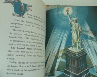 An American ABC Vintage Child's history book 1966