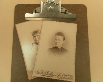 Two Sepia Toned Victorian Age Photgraphs