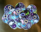 "9.5"" Medium Flow Reusable Cloth Pad Trio ~ Serendipity Minky ~ by Talulah Bean"