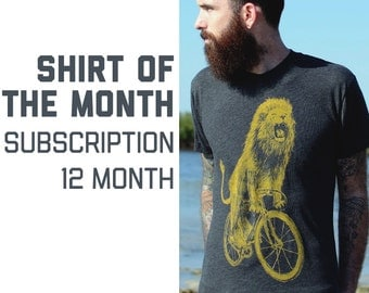 Dark Cycle Shirt of the Month Club Subscription - 12 Brand New Designs on American Apparel T-Shirts