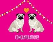 Congratulations - wedding or engagement card