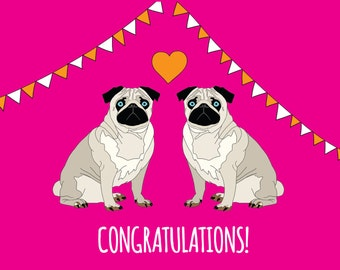 Congratulations - wedding or engagement card