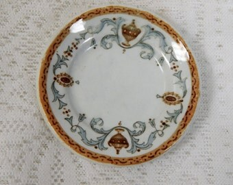 """Antique Butter Pat from the Ship """"Biscay"""" made by Ridgways England 3 1/4 inchses"""