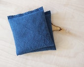 Ink Blue Lavender Pillow, Sweet Dreams Sleep Sachet, Mediterranean Bedroom Decor