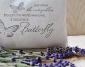Butterfly Pillow Friendship Gift - Lavender Filled Pillow Sachet