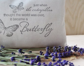 Butterfly Pillow Friendship Gift - Lavender Filled Pillow Sachet