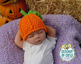 Pumpkin Hat, Halloween, Photo Prop, Newborn to Child Size
