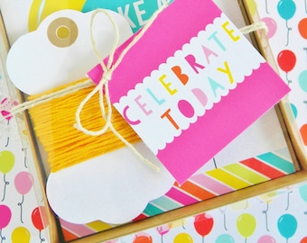 Gift Tags  //  Happy Birthday  //  Make A Wish  //  Celebrate  //  Gift Wrap  //  Packaging