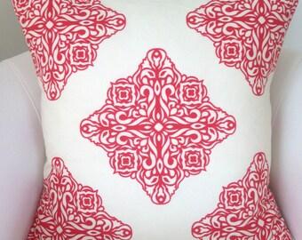 Coral Pillow Decorative Throw Pillow Cover Cushion Accent Pillow Tiles