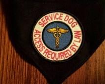 Black Service Dog Bandana