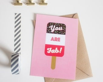You Are Fab Postcard