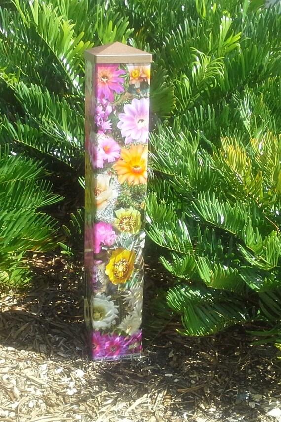 Garden art peace pole desert flowers for Garden art pole