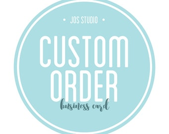 Custom Business Card Design - PDF File, You Print