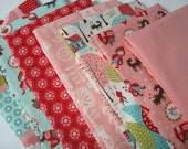 Lil Red by Stacy Iset Hsu for Moda Fat Quarter Set Shipping is combined and refunds are given