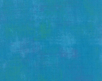 Turquoise Grunge by Basic Grey for Moda  half yard New Color