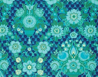 SALE Violette by Amy Butler Floral Damask in Midnight 1 yard