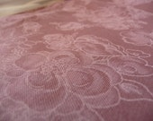 Soft Polyester Knit Fabric, Mauve Fabric, White Flowers, Vintage Fabric, 2 Yards, Sewing Supplies, Pink Mauve Fabric, Dress Fabric, Retro