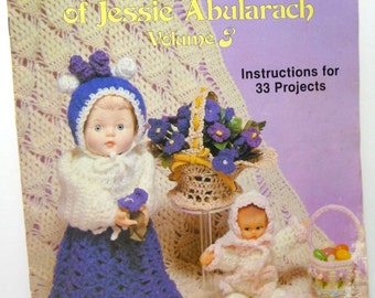 Crochet Patterns, Vintage Supplies, Sewing, Crochet Instructions, Crocheted Favorites, Originals of Jessie Abularach, Volume 3, Home Decor