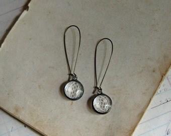 Lace Earrings Bubble Glass Boho Jewelry