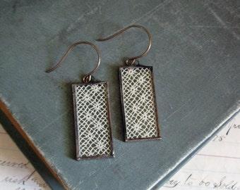 Long Dangle Antique Lace Earrings