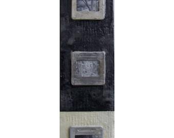 "Mixed-Media, Collage, Encaustic, Vintage on Wood, ""Nature"""