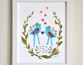 Together Forever - Wedding Gift - 8x10 Fine Art Print by Megan Jewel
